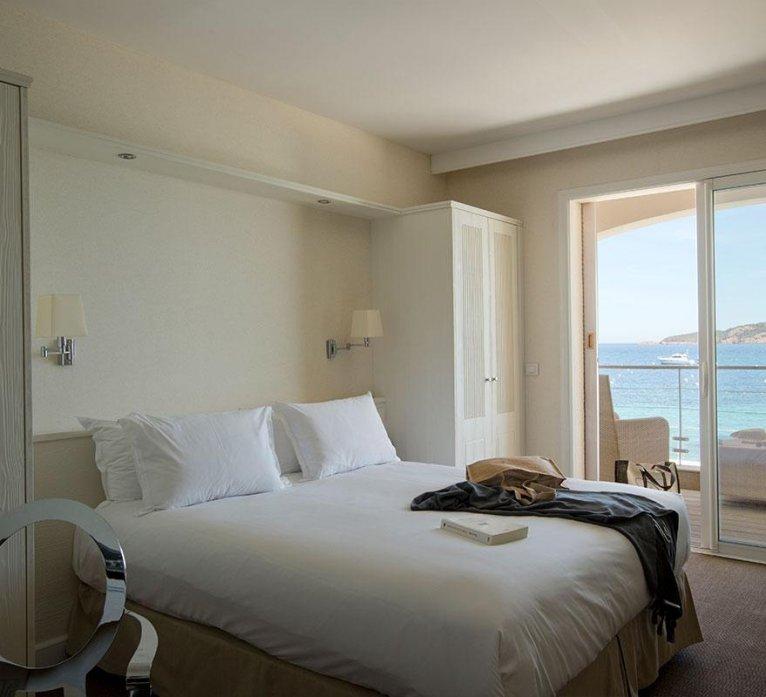 chambre supérieur vue sur mer hôtel spa à Porto-Vecchio en corse