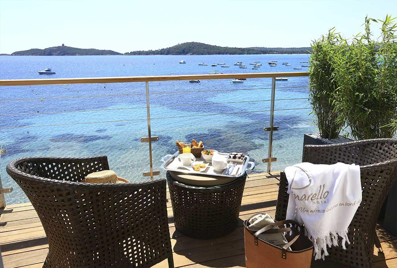 Terrase 4 etoiles vue mer Sud Corse