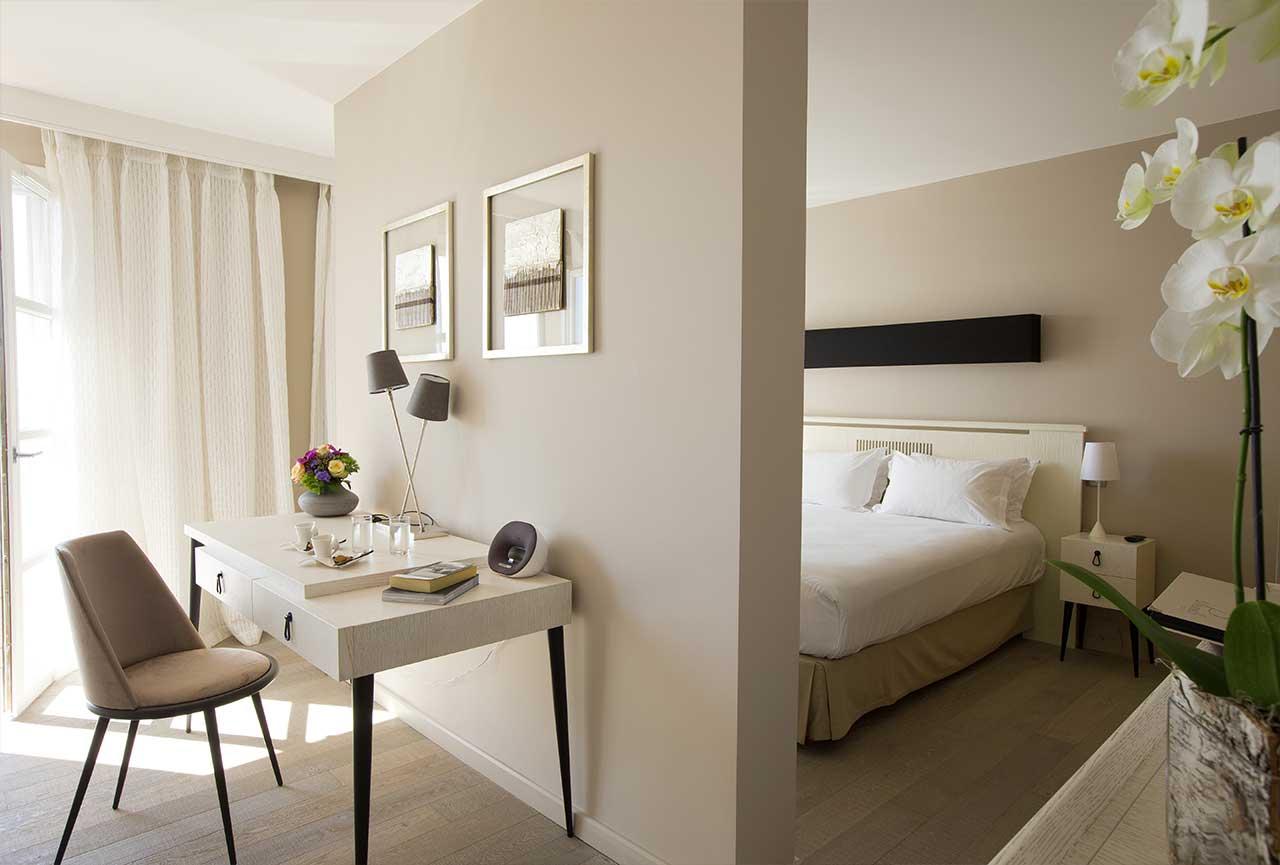 Chambre suite luxe Porto vecchio hotel Le Pinarello