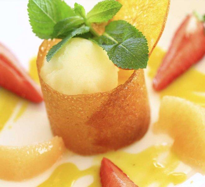 dessert hôtel le pinarello à Porto-Vecchio en Corse