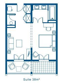 Plan des suites hôtel le pinarello à Porto-Vecchio en Corse