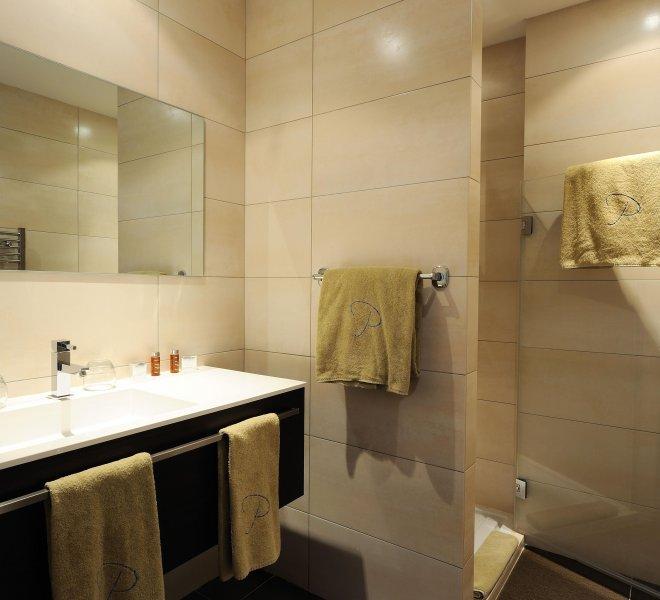 Salle de bain appartement n°20 hôtel spa le pinarello à porto-vecchio
