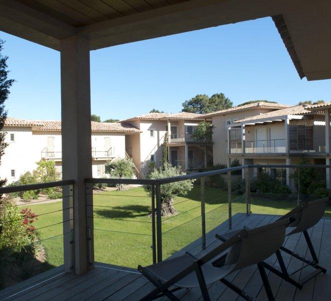 Terrasse appartement n°20 hôtel spa luxe à Porto-Vecchio