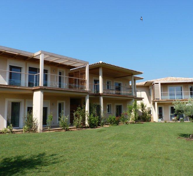 Jardin appartements hôtels luxe et spa à porto-vecchio