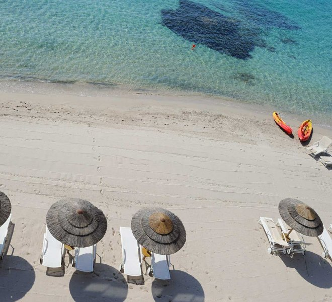 plage hôtel spa Le Pinarello en Corse du sud