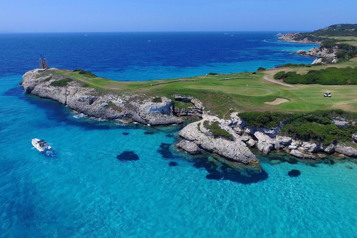 activités golf en corse hôtel le pinarello